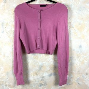 The Limited Magenta Cardigan Sweater